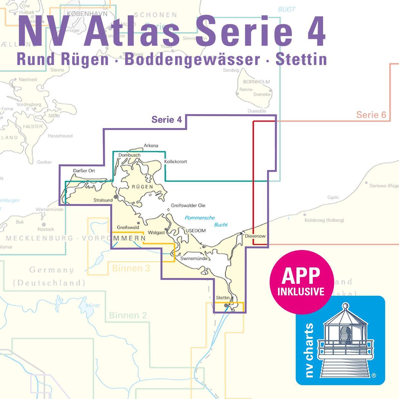 NV Serie 4 Plano Rund Rügen - Boddengewässer - Stettin
