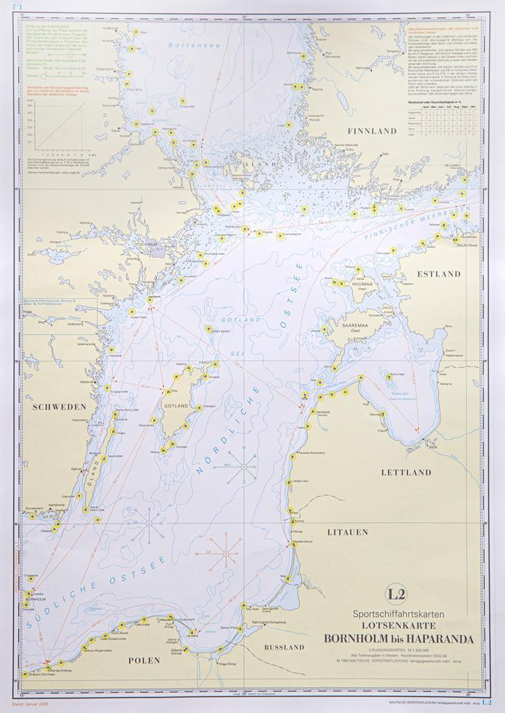 NV Lotsenkarte 2 - Bornholm - Haparanda