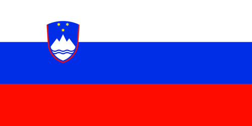 Gastlandflagge Slowenien 30X45cm