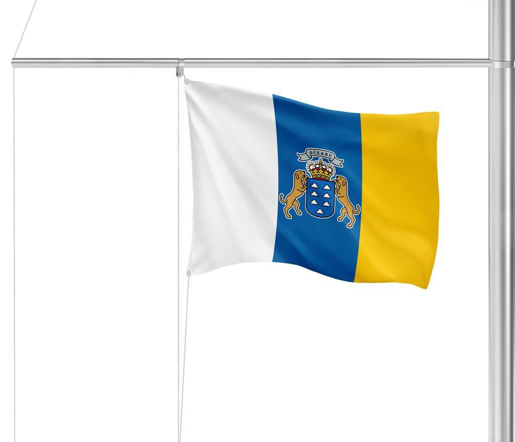 Flagge Kanarische Inseln mit Wappen