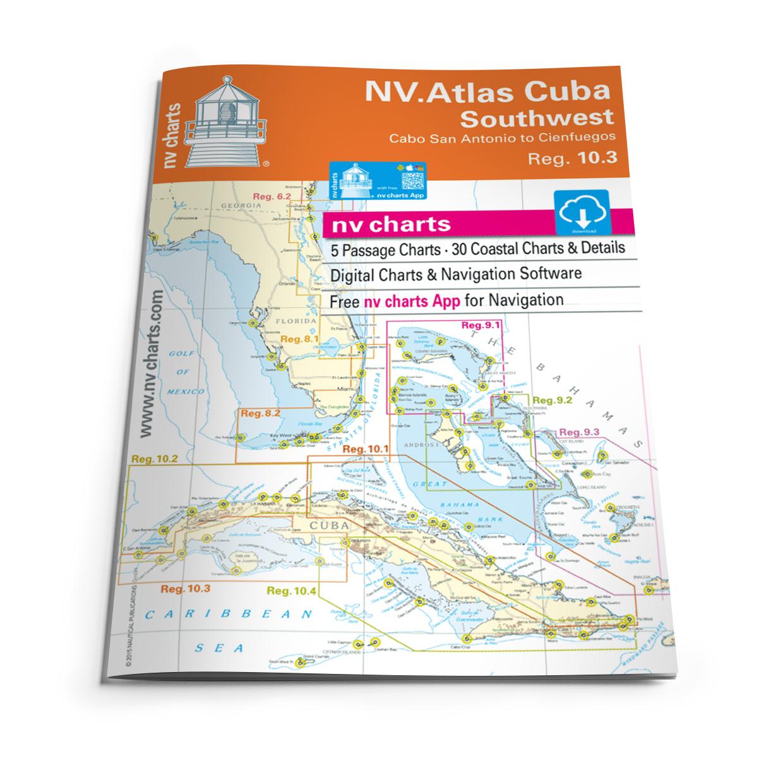 NV Atlas Cuba 10.3, Southwest - Cabo San Antonio to Cienfuegos