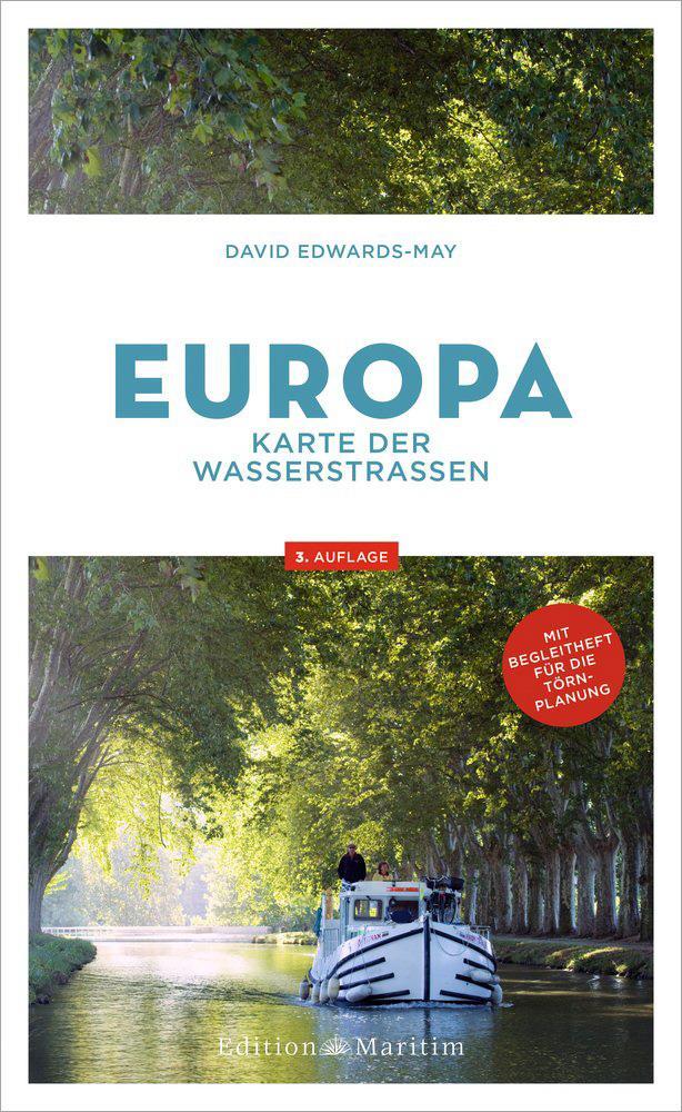 Europa Karte der Wasserstraßen