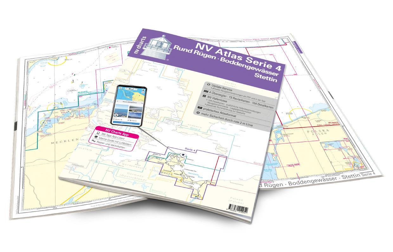 NV Atlas Serie 4 Rund Rügen - Boddengewässer - Stettin