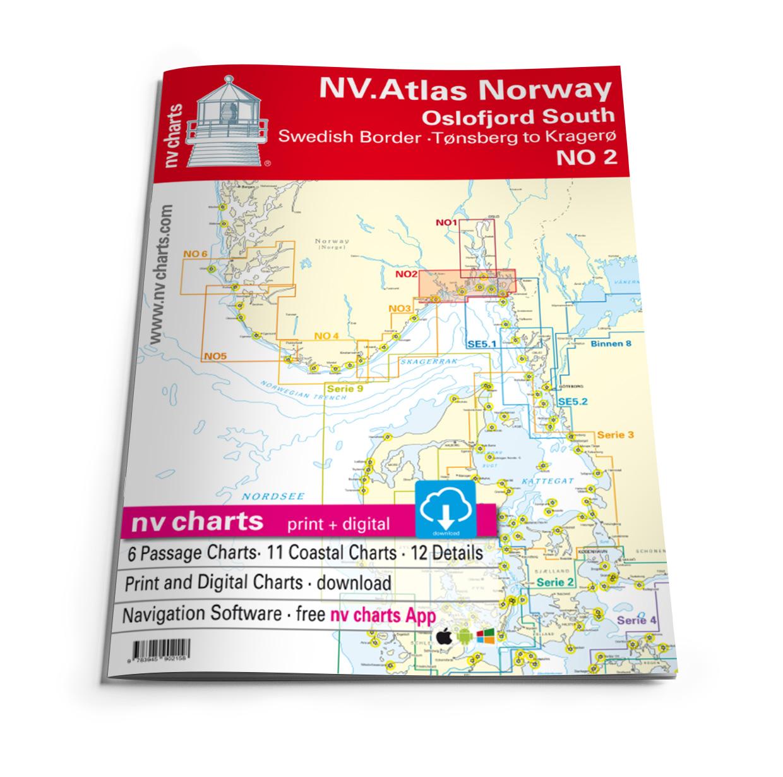 NV Atlas NO2 Oslofjord Sør - Svenska Grensen til Kragerø
