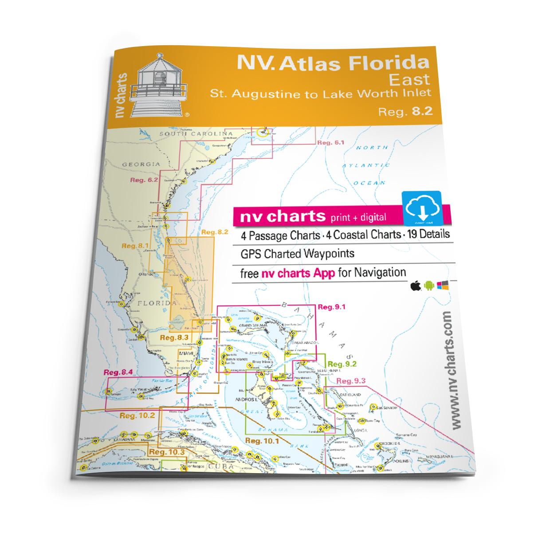 NV Atlas Florida, East Reg. 8.2 - St. Augustine to Lake Worth Inlet